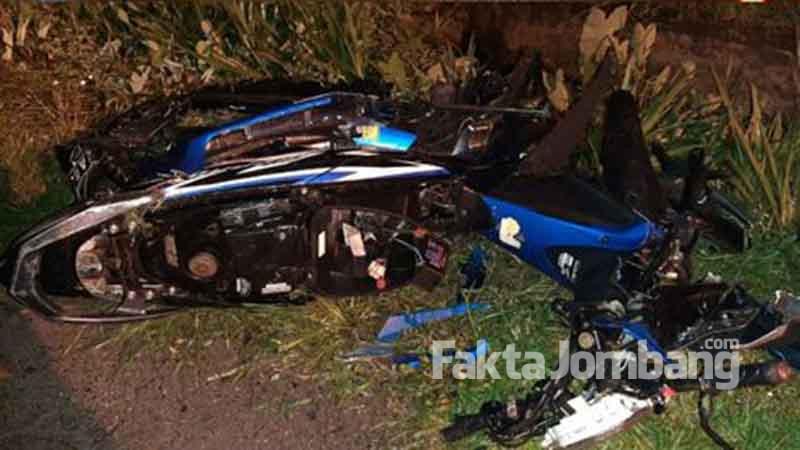 kondisi motor korban hancur