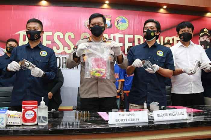 pengedar sabu sabu asal Jombang di Polda Jatim