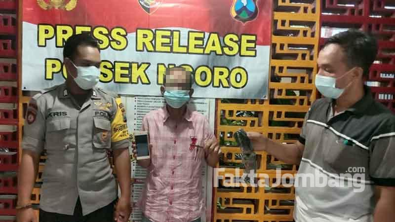 tesangka pencurian handphone di Ngoro Jombang