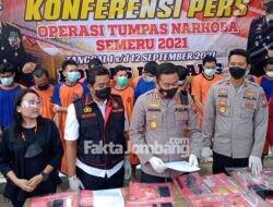 Ungkap 24 Kasus Narkoba di Jombang Selama 12 Hari, Polisi Bekuk 26 Tersangka