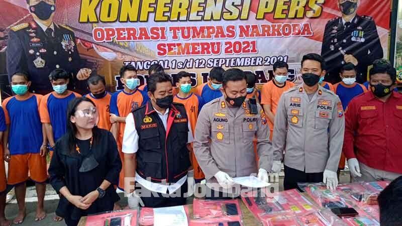 Rilis kasus narkoba di Polres Jombang