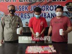 Pemuda Glagahan Jombang Diringkus, Polsek Jogoroto Sita Ribuan Pil Dobel L